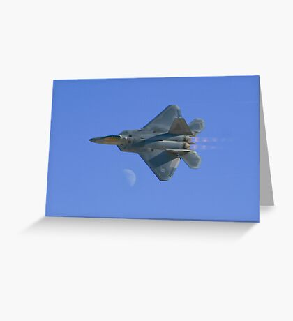 Raptor Over the Moon Greeting Card