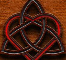 Celtic Knotwork Valentine Heart Canvas Texture 1 Sticker
