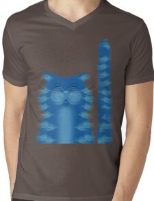 RIBBAR THE CAT Mens V-Neck T-Shirt