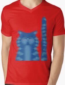 RIBBAR THE CAT Mens V-Neck T-Shirt