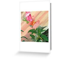 Fly on Snap Dragon Alongside Ramp Greeting Card