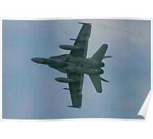 188759 A Royal Canadian Air Force CF-188 (F/A-18 Hornet) banks on arrival Poster