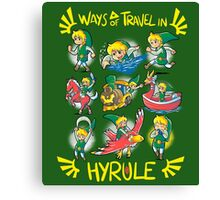Ways of travel in hyrule Canvas Print
