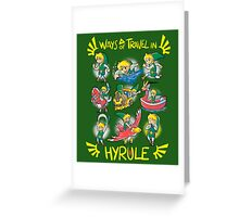 Ways of travel in hyrule Greeting Card