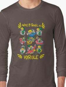 Ways of travel in hyrule Long Sleeve T-Shirt