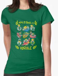 Ways of travel in hyrule Womens Fitted T-Shirt