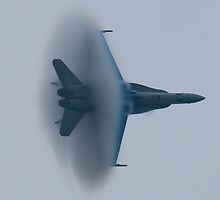 F/A-18A Hornet, VFA-106 AD-347, vapor cone by Henry Plumley