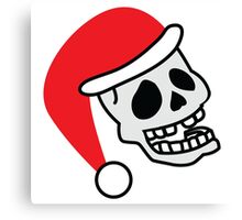 ha ha ha smiling skull SANTA for Christmas Canvas Print