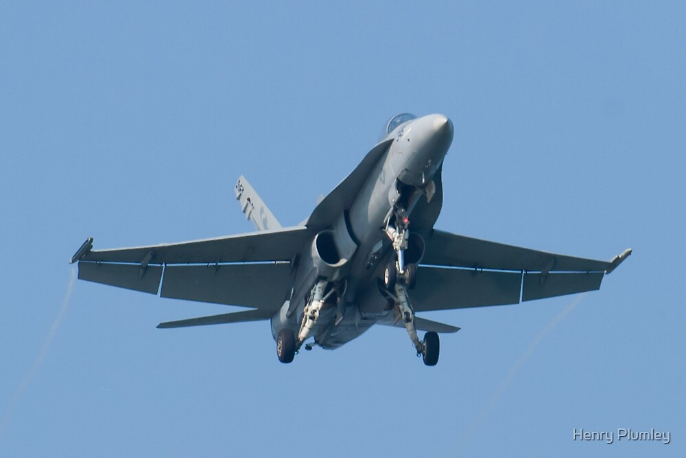 Head On Shot 162888 F/A-18A Hornet by Henry Plumley