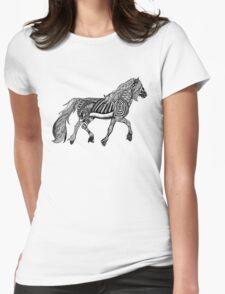 Zentangle Trotting Friesian Horse T-Shirt