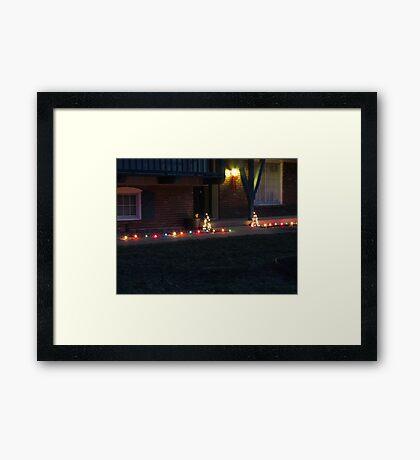 marching lights Framed Print