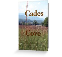 """Cades Cove""... prints and products Greeting Card"