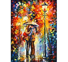 KISS UNDER THE RAIN - Leonid Afremov Photographic Print