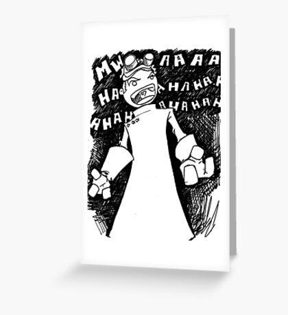 Doctor Horrible - Transparent Evil Laugh Greeting Card