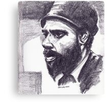 Sketch Of Thelonious Canvas Print