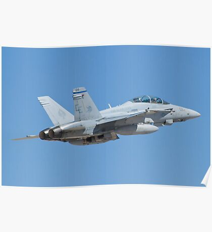 164677 F/A-18D Hornet on Take Off Poster