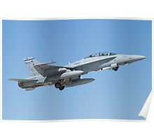 164677 F/A-18D Hornet Taking Off Poster