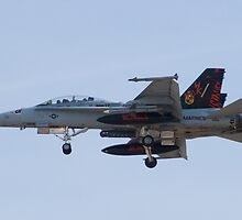 164696 F/A-18D Hornet On Approach by Henry Plumley