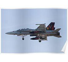 164696 F/A-18D Hornet On Approach Poster