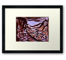 valley view... range yellow tinge Framed Print