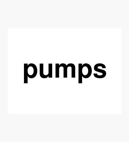 pumps Photographic Print