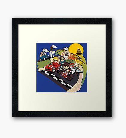 Super Fighting Kart Framed Print