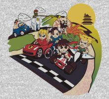 Super Fighting Kart One Piece - Long Sleeve