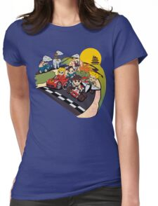 Super Fighting Kart Womens Fitted T-Shirt