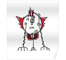 Alien Robot Hand Draw Illustration Poster