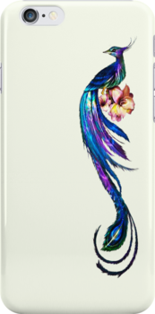 Elegant Peacock - iphone Case by Carol Knudsen