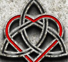Celtic Knotwork Valentine Heart Bone Texture 1 Sticker