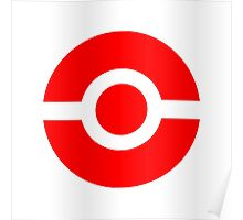 Pokeball Icon Red Poster