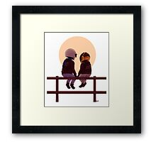 Daft Punk & Sunset Framed Print