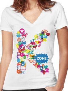 Icons Women's Fitted V-Neck T-Shirt