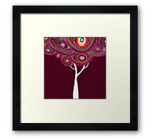 Abstract tree Framed Print