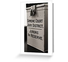 Jury Duty Greeting Card