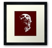 zombie face Framed Print