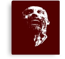 zombie face Canvas Print