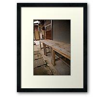 chair. Framed Print