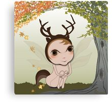 Deery Fairy under Autumn Leaves Canvas Print