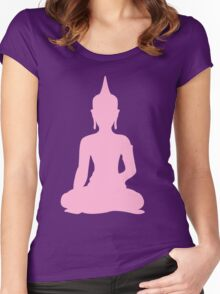 Pastel Candy Buddha Women's Fitted Scoop T-Shirt