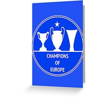 Champions of Europe Greeting Card