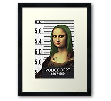 Gioconda in jail Framed Print