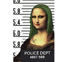 Gioconda in jail Photographic Print
