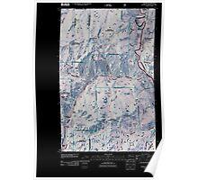 USGS Topo Map Washington State WA Toroda 20110505 TM Inverted Poster