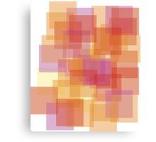 Heat Square Explosion Canvas Print