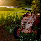 Tractor on Course edit 3 by anneisabella