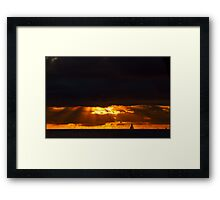 Sailing on the Edge of the World Framed Print