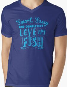 Smart, Sassy and completely love my FISH Mens V-Neck T-Shirt