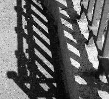 Iron Fence And Shadow by Jazzdenski
